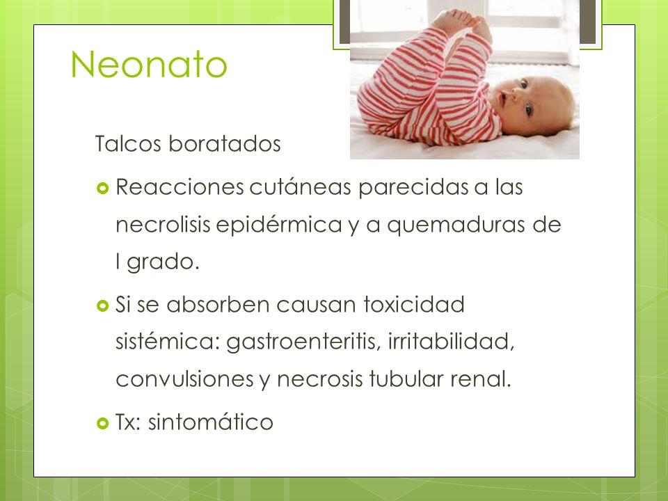 Neonato Talcos boratados