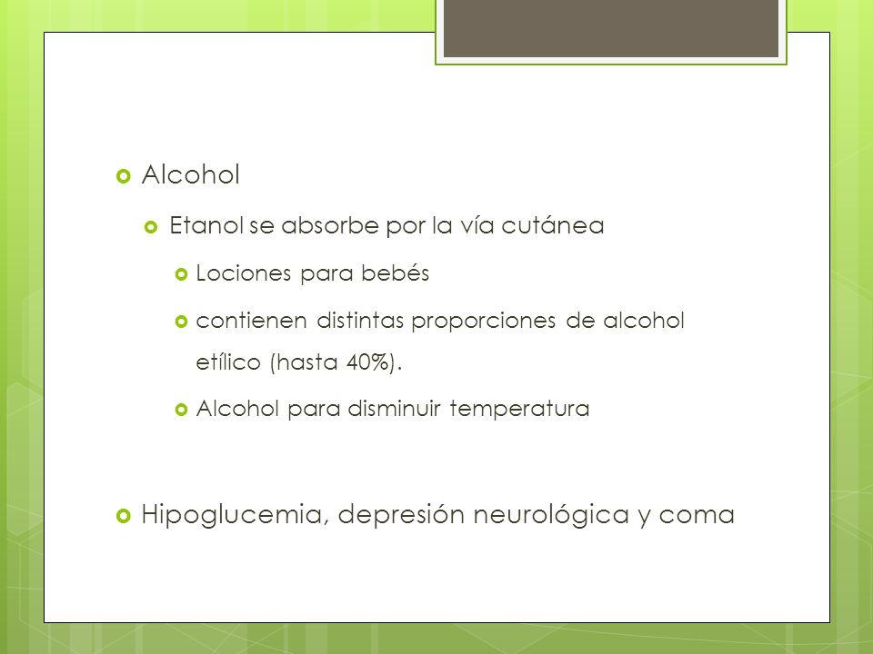 Hipoglucemia, depresión neurológica y coma