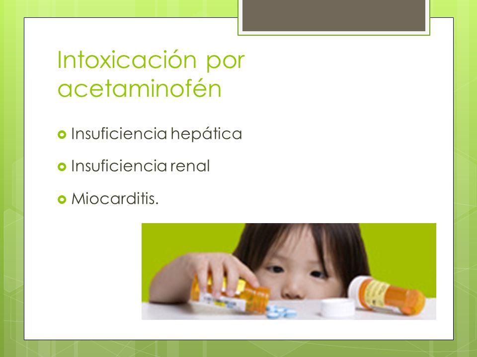 Intoxicación por acetaminofén