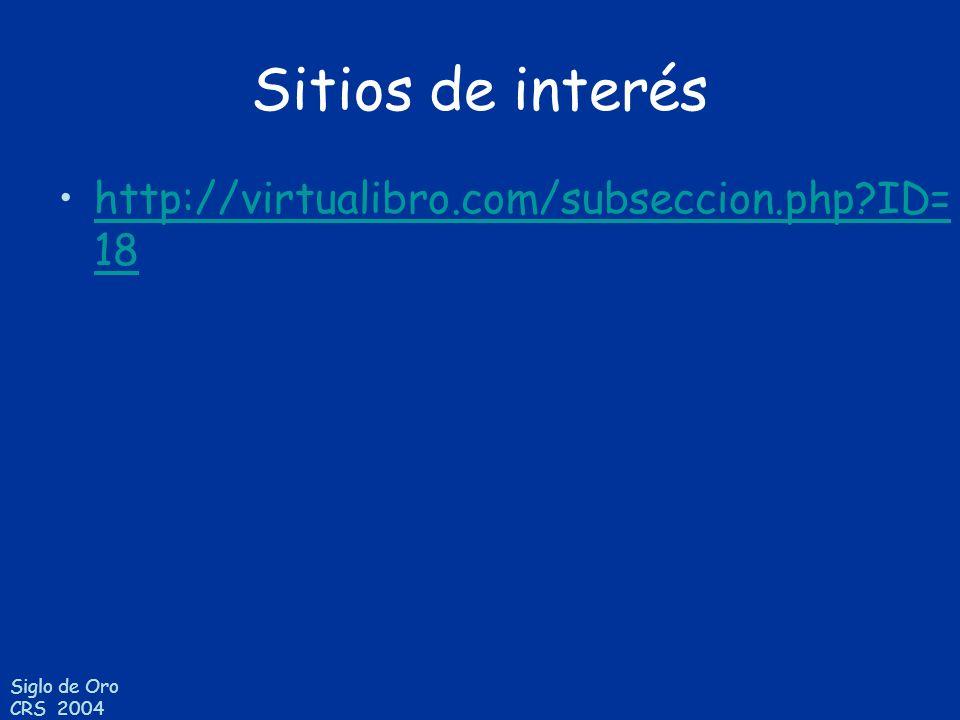 Sitios de interés http://virtualibro.com/subseccion.php ID=18