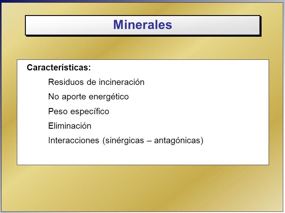 Minerales Características: Residuos de incineración