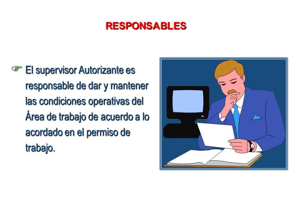 SUPERVISOR SOLICITANTE (RESPONSABLE DEL TRABAJO)
