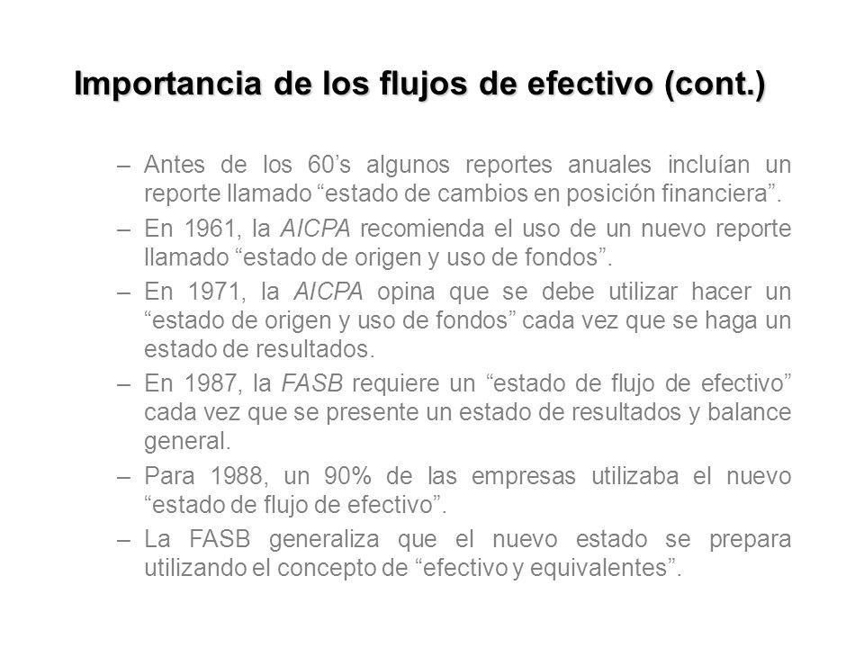 Importancia de los flujos de efectivo (cont.)