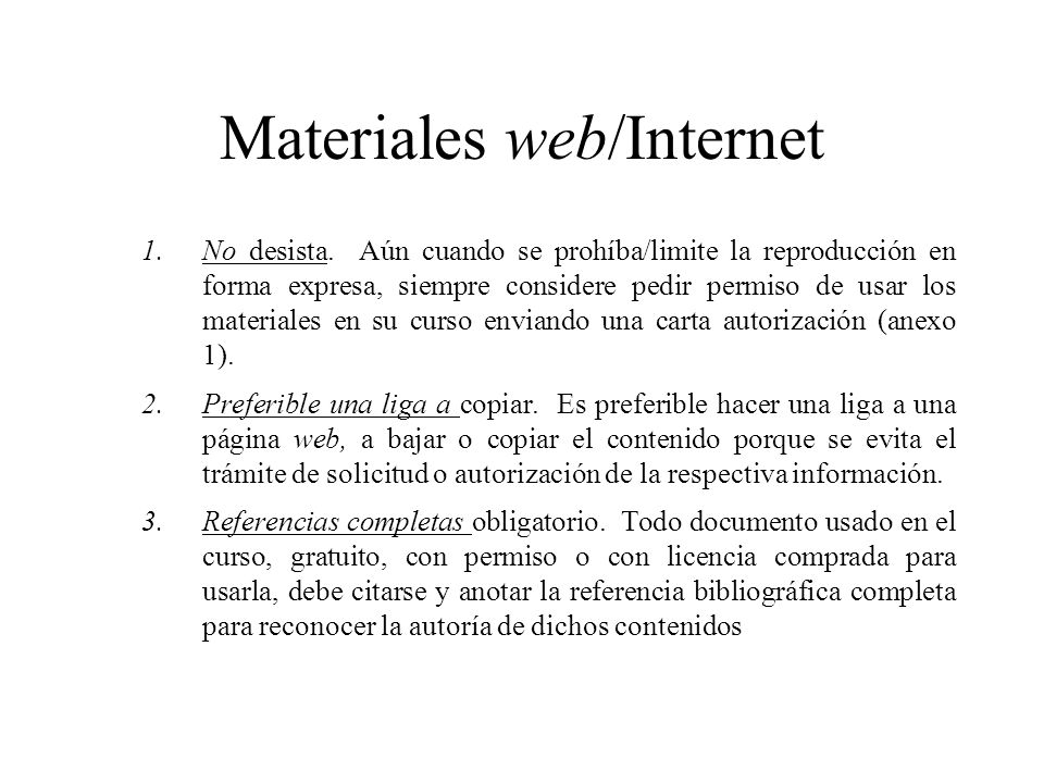 Materiales web/Internet