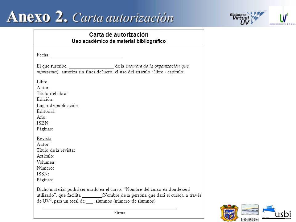 Anexo 2. Carta autorización
