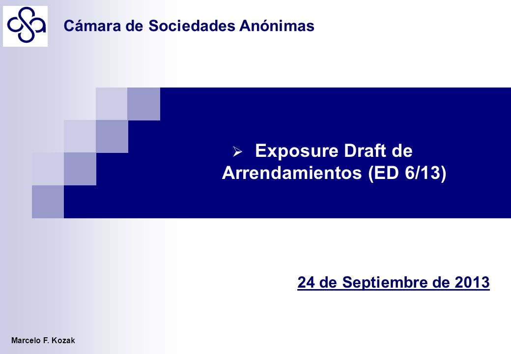 Exposure Draft de Arrendamientos (ED 6/13)