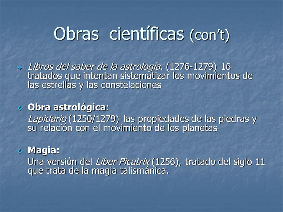 Obras científicas (con't)