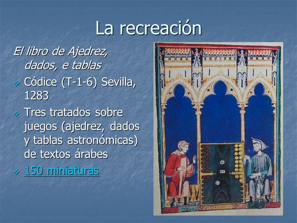 La recreación El libro de Ajedrez, dados, e tablas