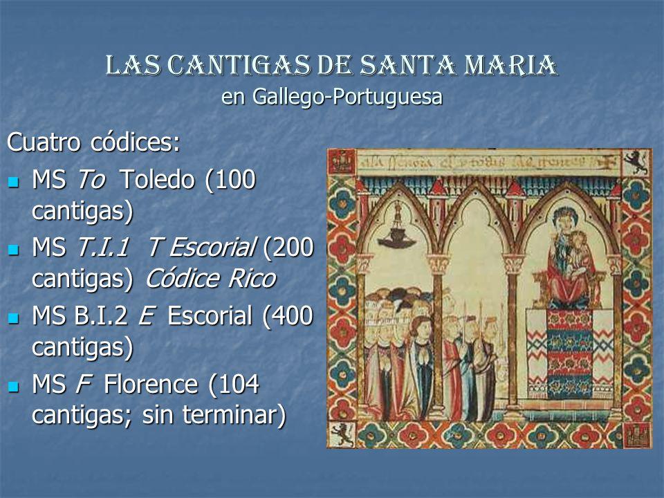 Las Cantigas de Santa Maria en Gallego-Portuguesa