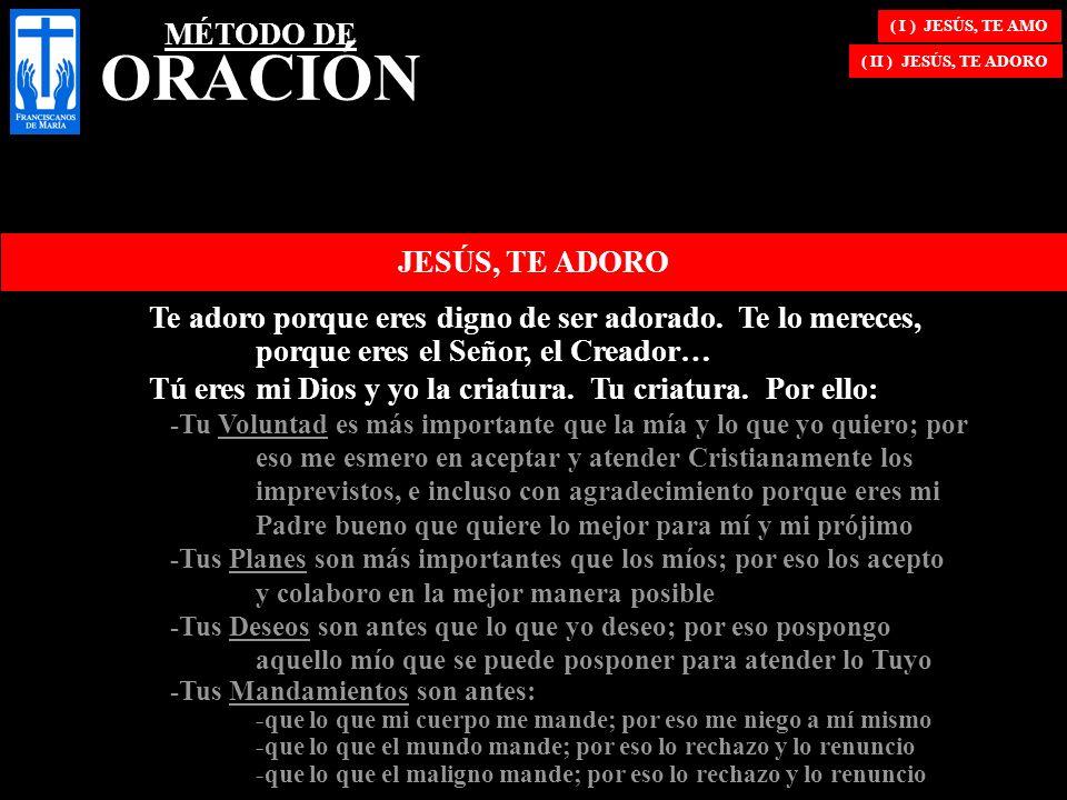 MÉTODO DE ORACIÓN JESÚS, TE ADORO