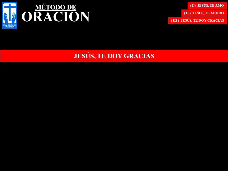( III ) JESÚS, TE DOY GRACIAS