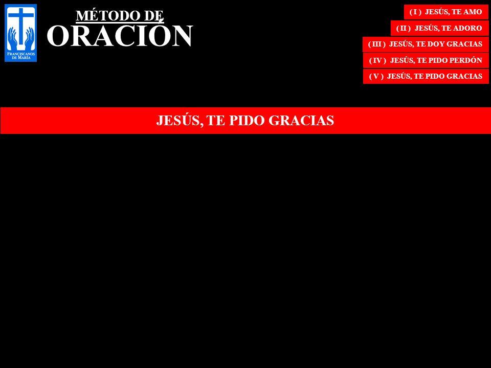 MÉTODO DE ORACIÓN JESÚS, TE PIDO GRACIAS