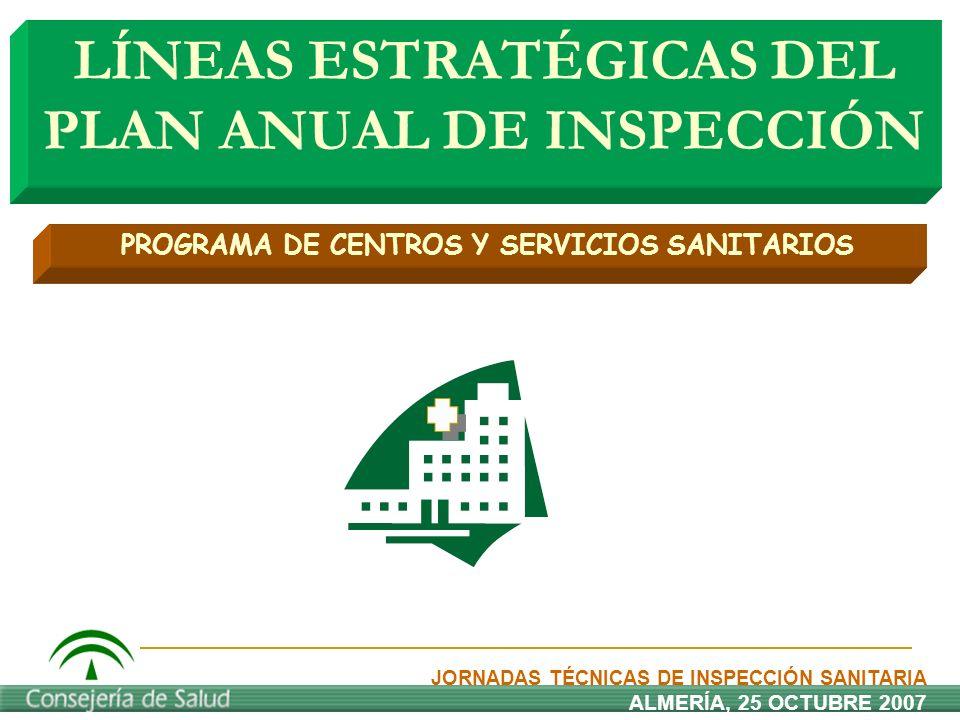 LÍNEAS ESTRATÉGICAS DEL PLAN ANUAL DE INSPECCIÓN