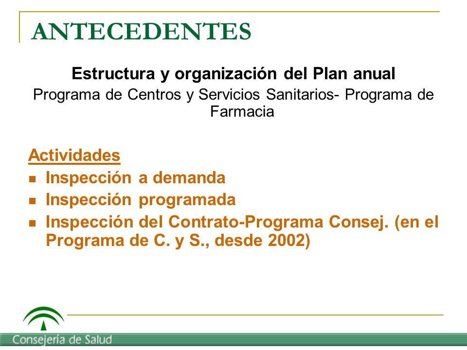 Estructura y organización del Plan anual