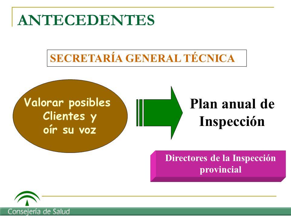 Directores de la Inspección provincial