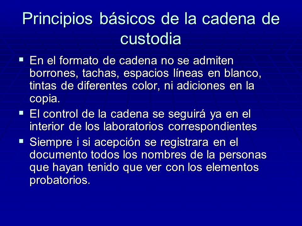 Principios básicos de la cadena de custodia