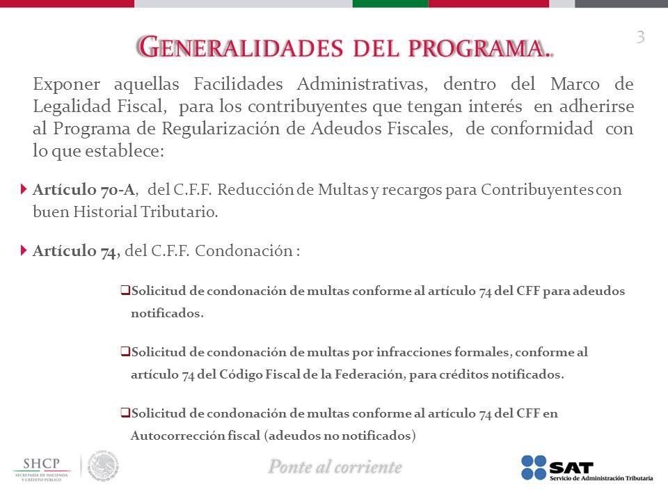 Generalidades del programa.