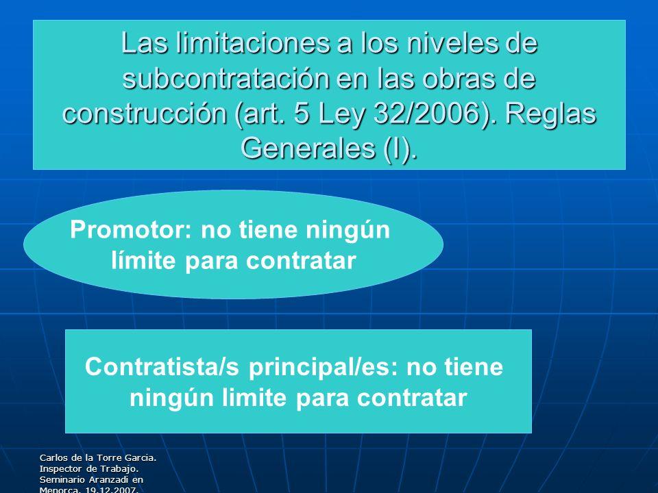 Las limitaciones a los niveles de subcontratación en las obras de construcción (art. 5 Ley 32/2006). Reglas Generales (I).