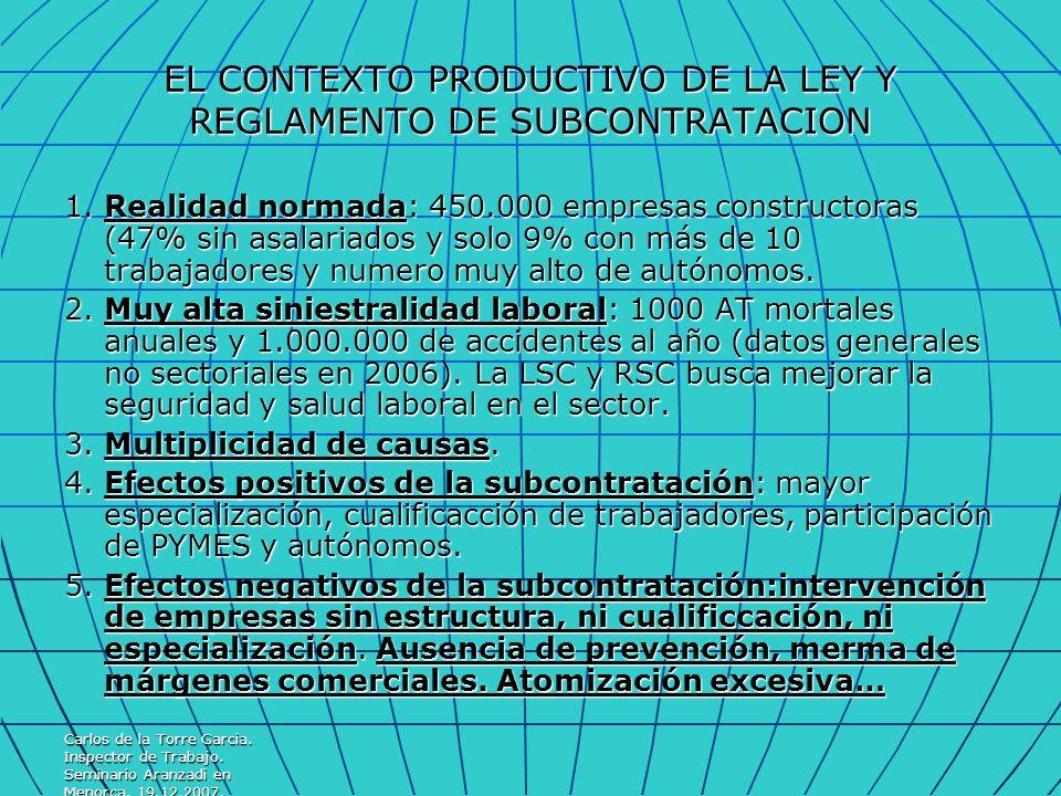 EL CONTEXTO PRODUCTIVO DE LA LEY Y REGLAMENTO DE SUBCONTRATACION