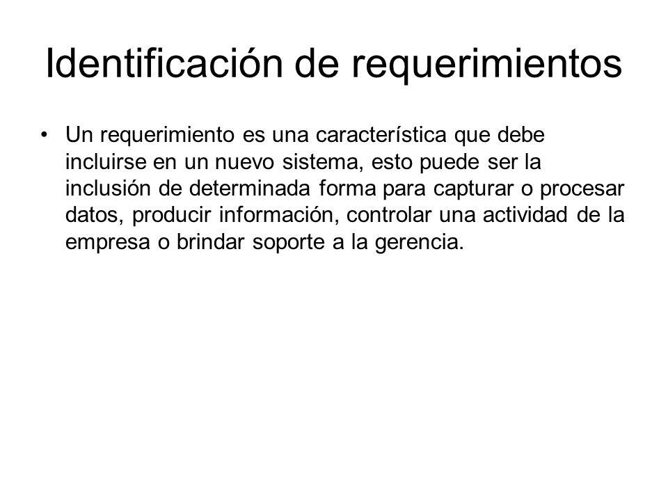 Identificación de requerimientos