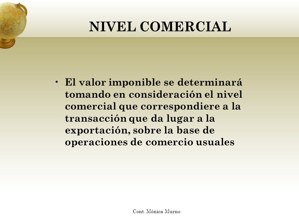 NIVEL COMERCIAL