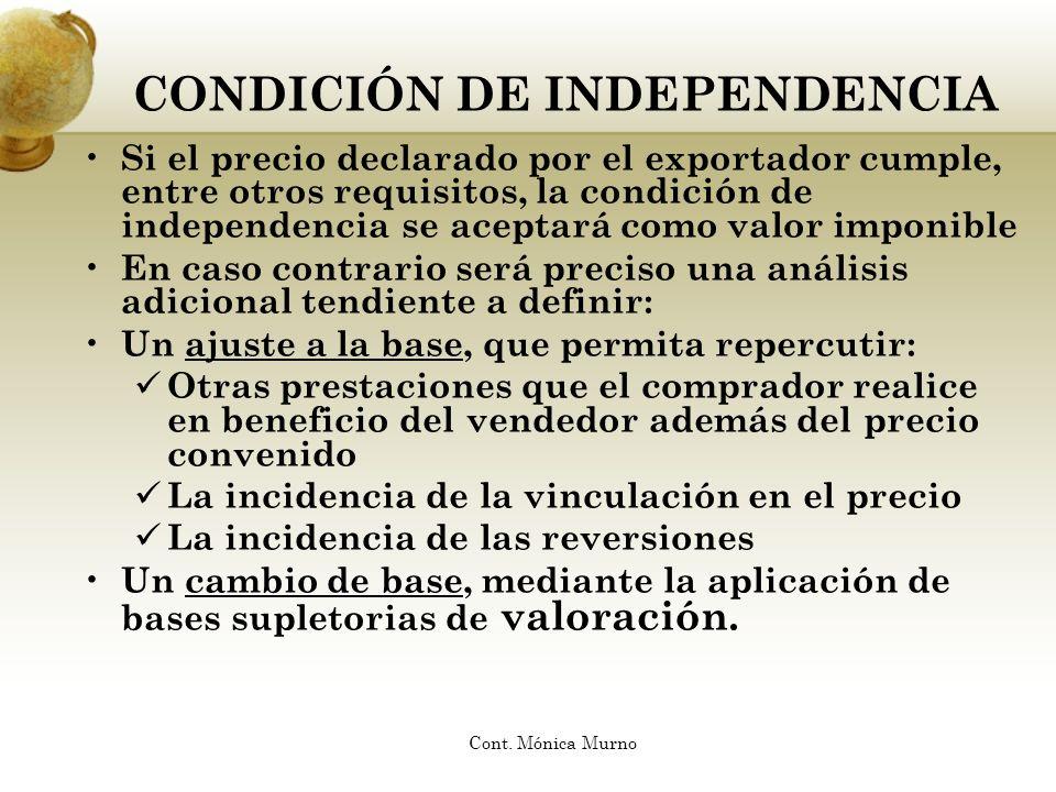 CONDICIÓN DE INDEPENDENCIA
