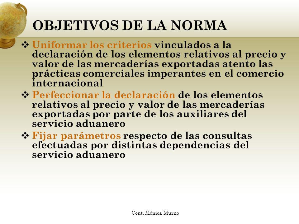 OBJETIVOS DE LA NORMA