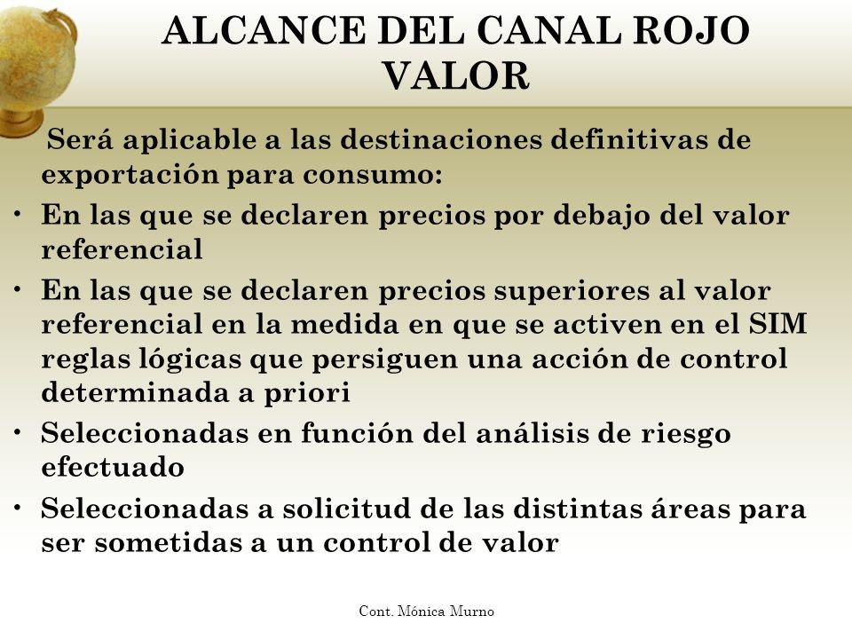 ALCANCE DEL CANAL ROJO VALOR