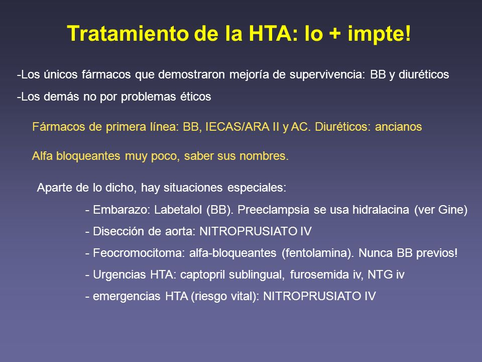 Tratamiento de la HTA: lo + impte!