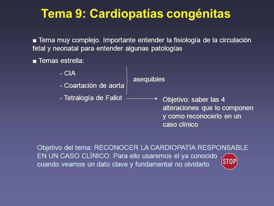 Tema 9: Cardiopatías congénitas