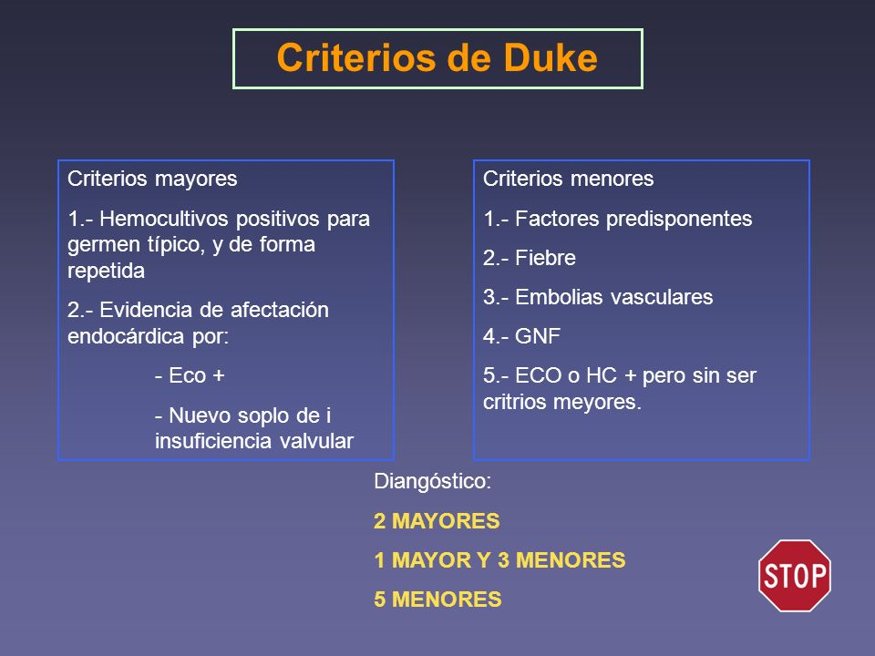 Criterios de Duke Criterios mayores