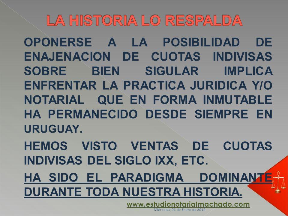 LA HISTORIA LO RESPALDA