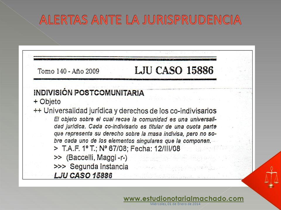 ALERTAS ANTE LA JURISPRUDENCIA
