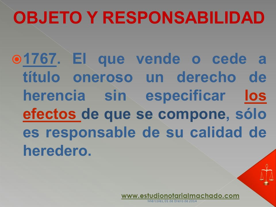 OBJETO Y RESPONSABILIDAD