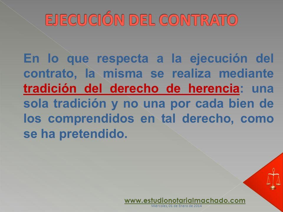 EJECUCIÓN DEL CONTRATO