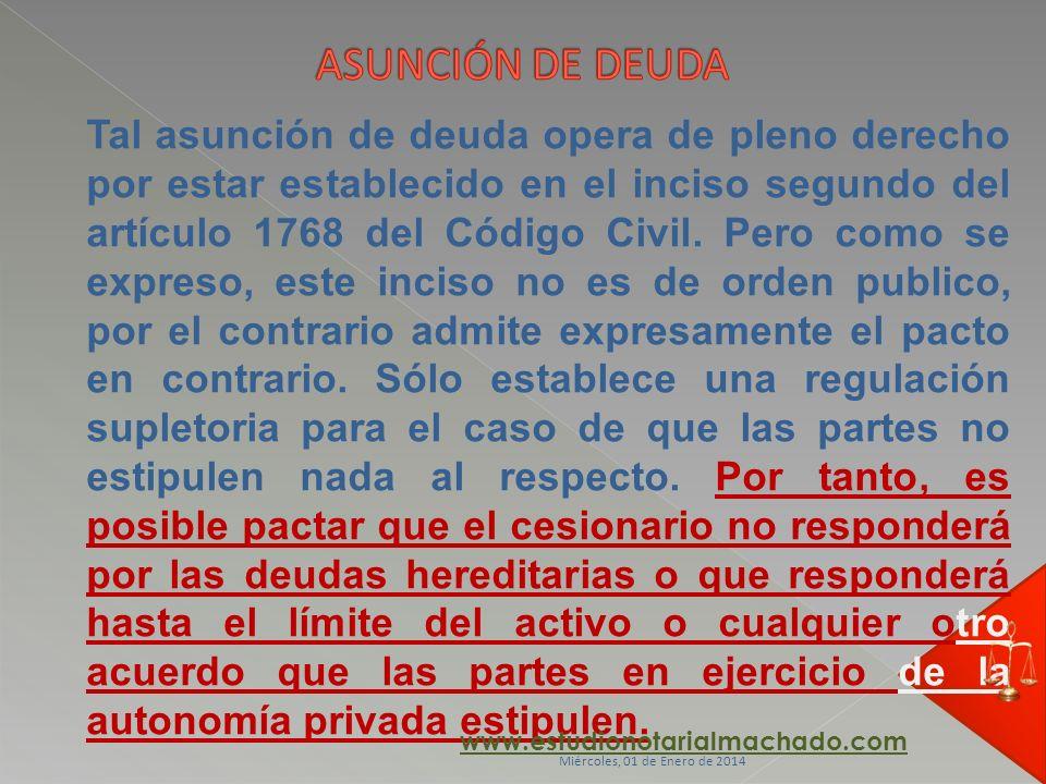 ASUNCIÓN DE DEUDA