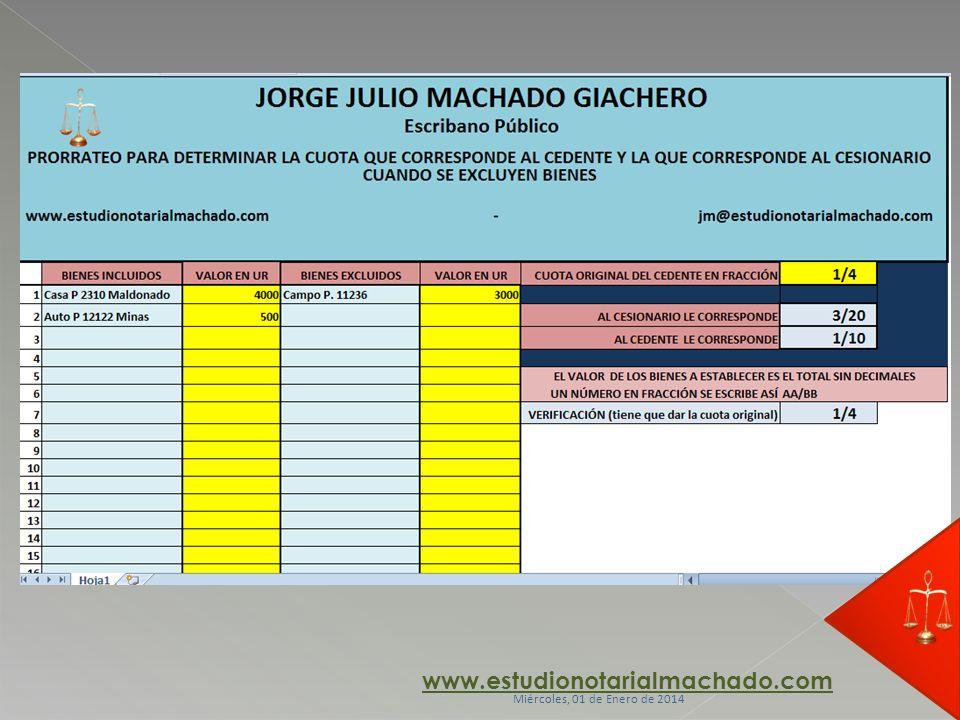 www.estudionotarialmachado.com jueves, 23 de marzo de 2017