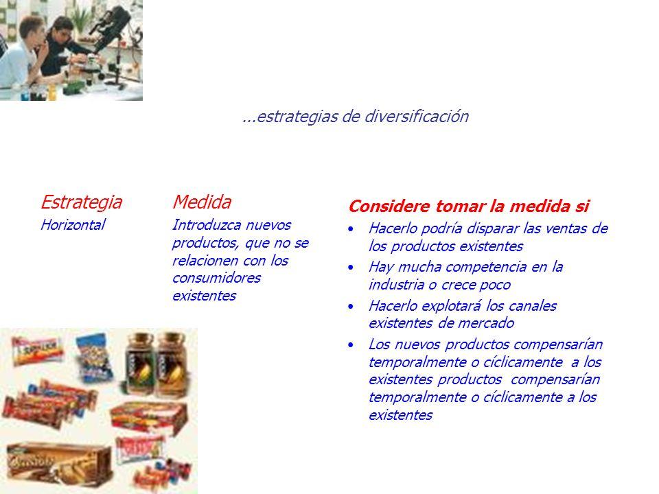 ...estrategias de diversificación