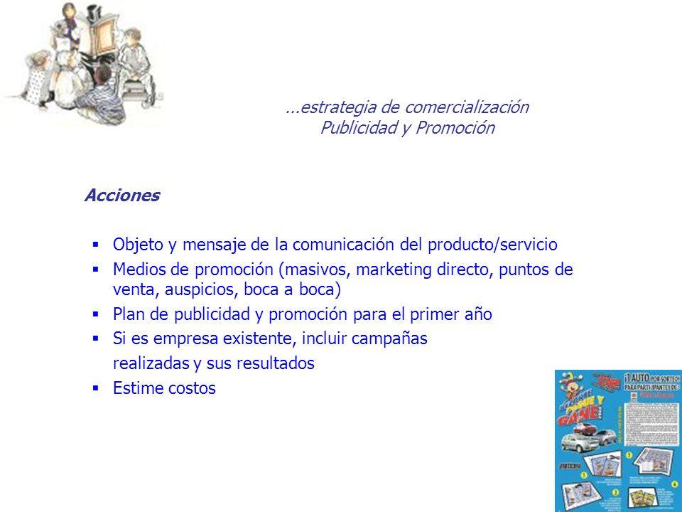...estrategia de comercialización Publicidad y Promoción