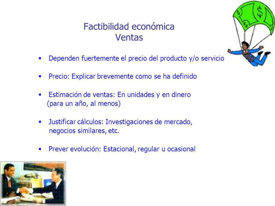 Factibilidad económica Ventas