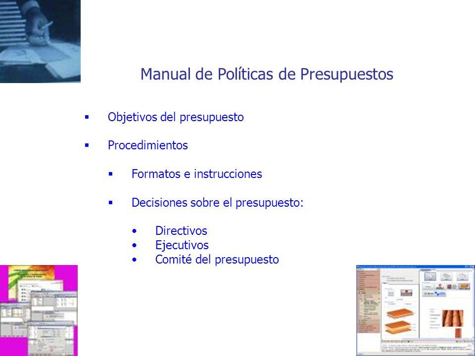 Manual de Políticas de Presupuestos