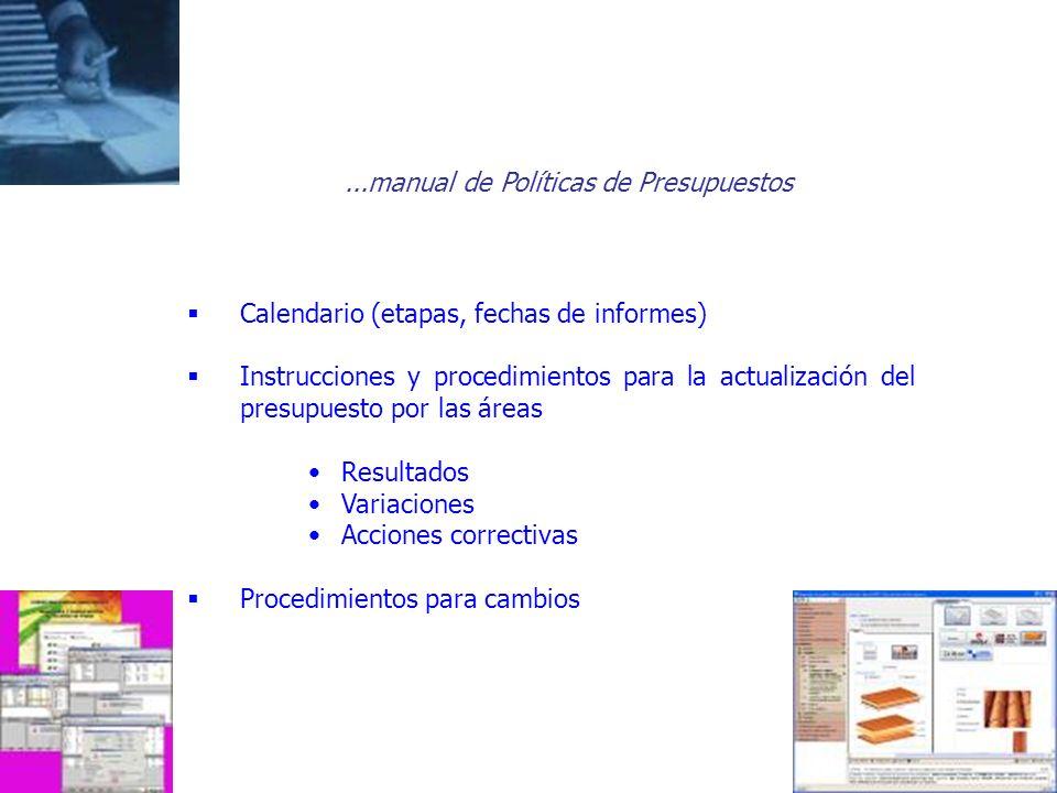 ...manual de Políticas de Presupuestos