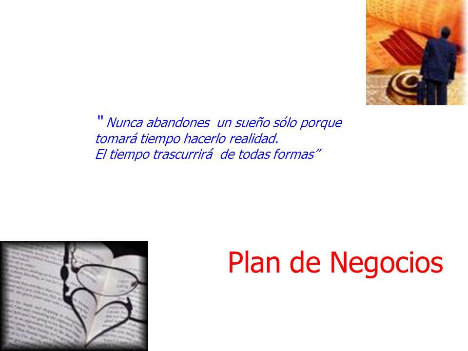 Plan de Negocios Nunca abandones un sueño sólo porque