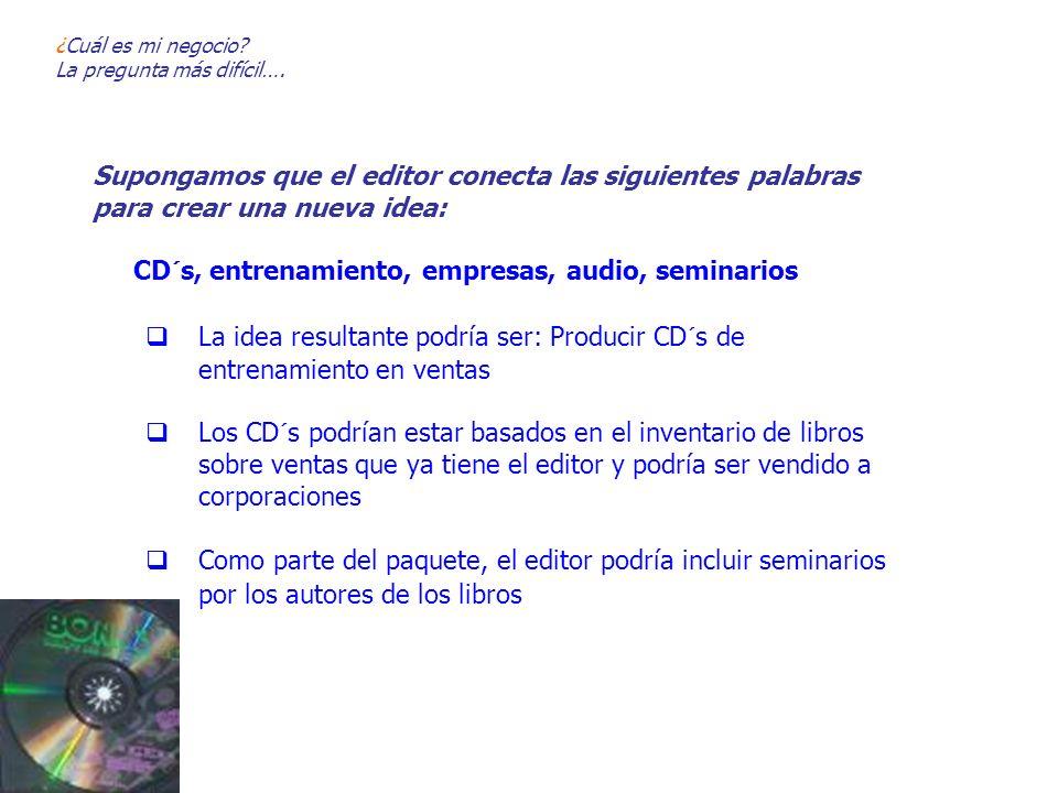 CD´s, entrenamiento, empresas, audio, seminarios