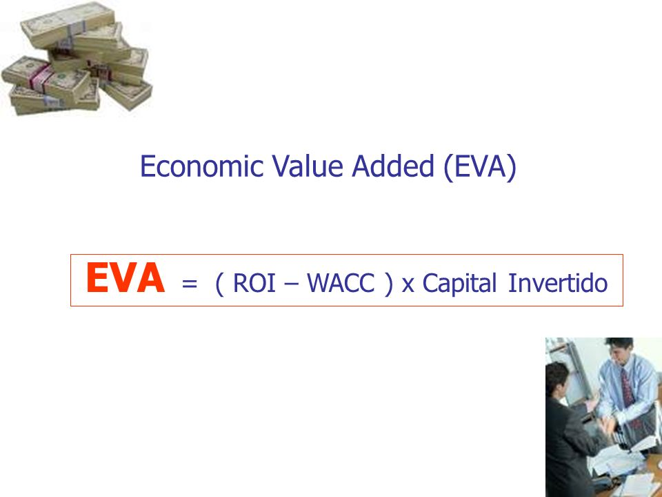 EVA = ( ROI – WACC ) x Capital Invertido