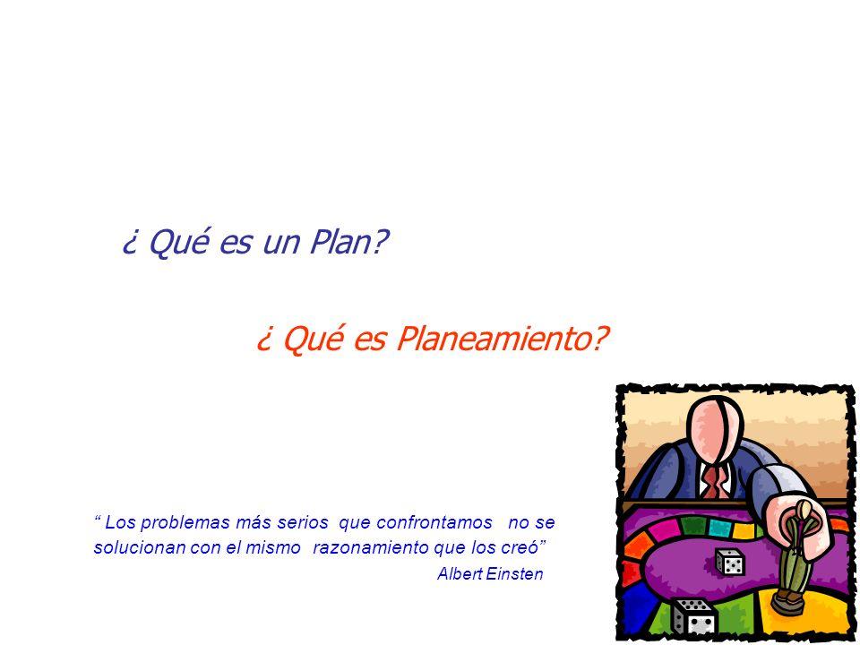 ¿ Qué es un Plan ¿ Qué es Planeamiento