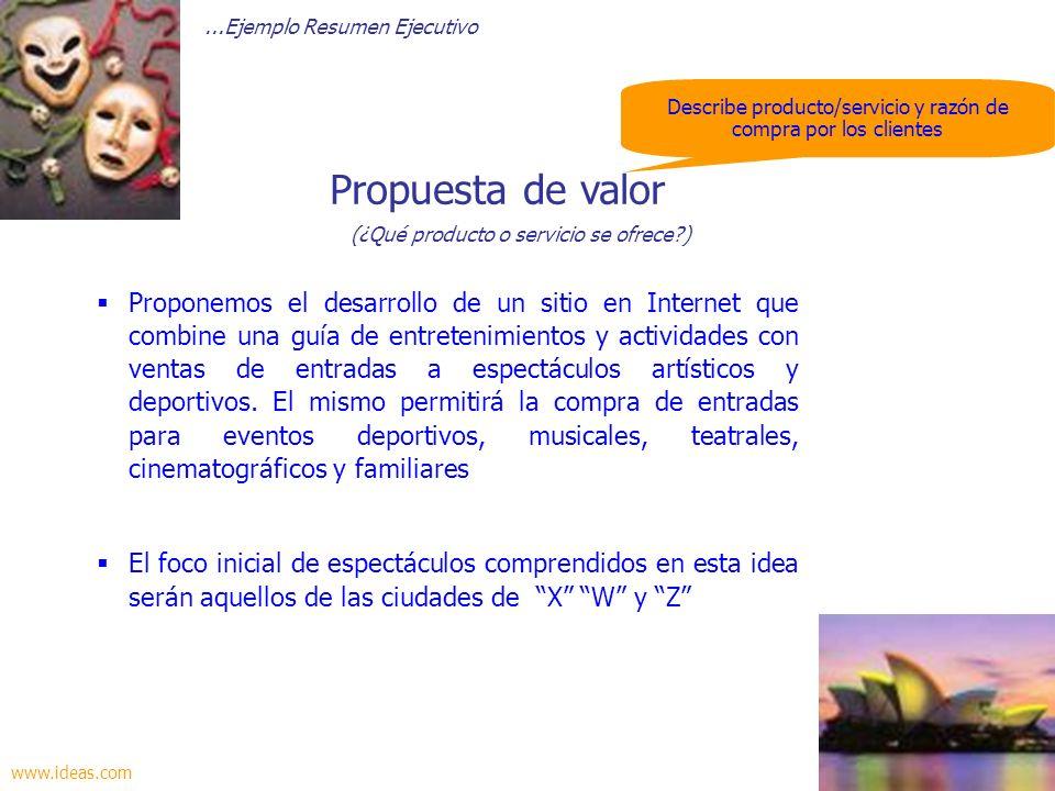 Propuesta de valor (¿Qué producto o servicio se ofrece )