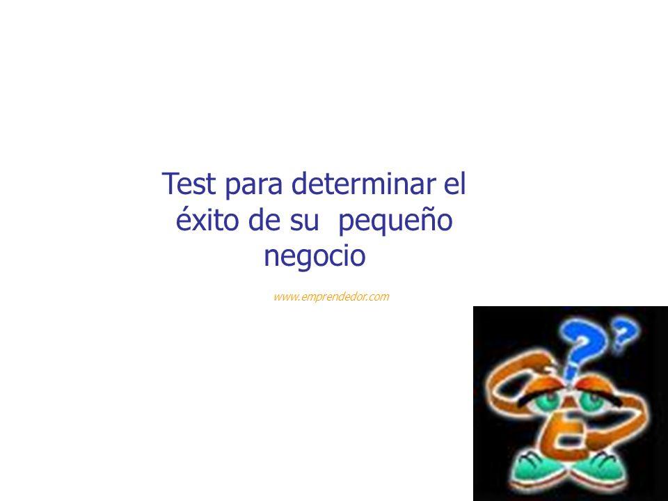 Test para determinar el éxito de su pequeño negocio