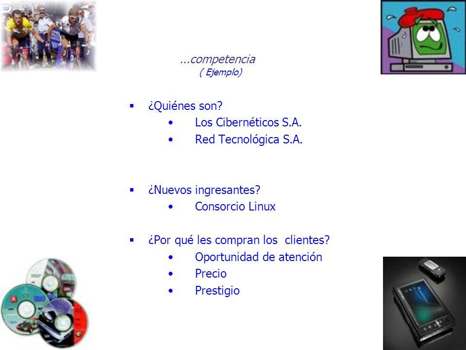 ( Ejemplo) ...competencia ¿Quiénes son Los Cibernéticos S.A.