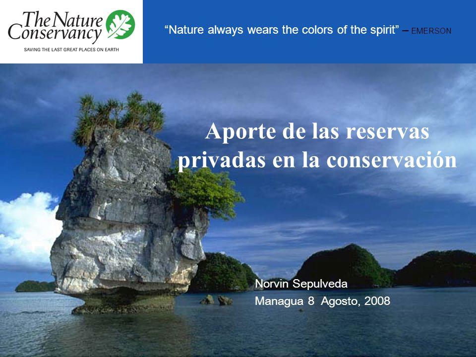 Aporte de las reservas privadas en la conservación